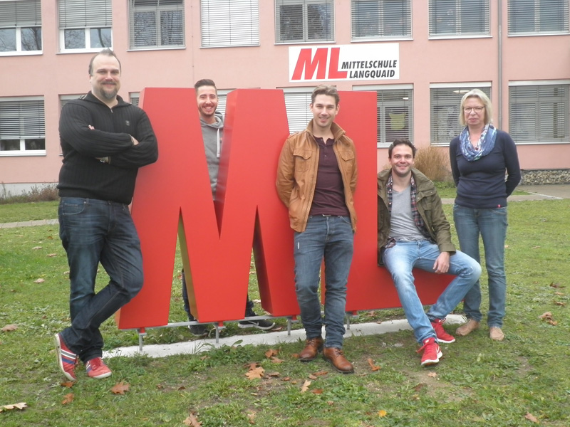Von links: Frank Lehmann (Projektleiter), Simon Seitz, Roland Krautlager, Patrick Ipfelkofer, Silvia Diermeier