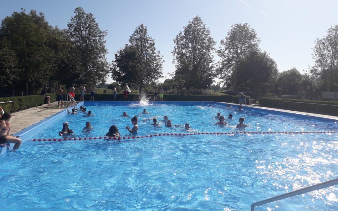 Freibadbesuch der Mittelschule am 24. Juli 2019