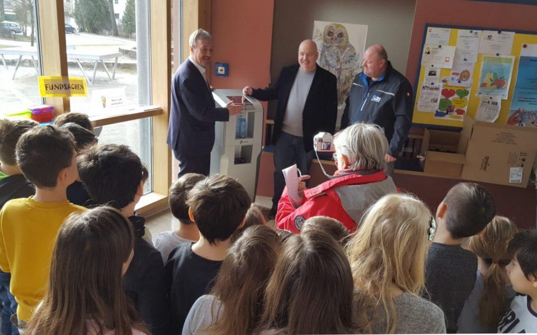 Neuer Trinkwasserspender in der Grundschule