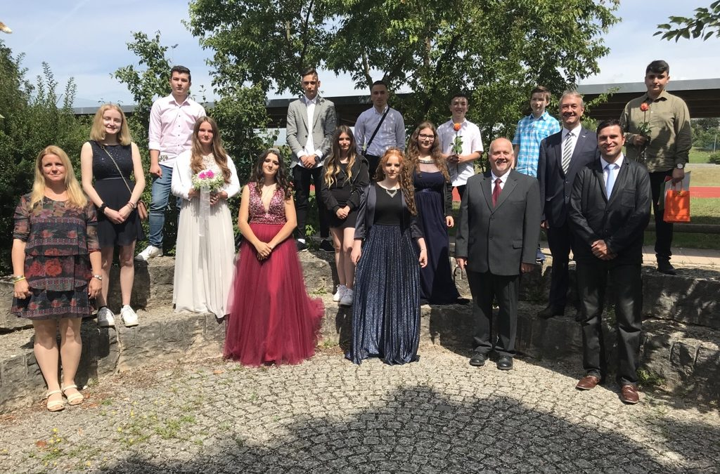 Abschluss-Schüler der 9. Klasse wurden verabschiedet