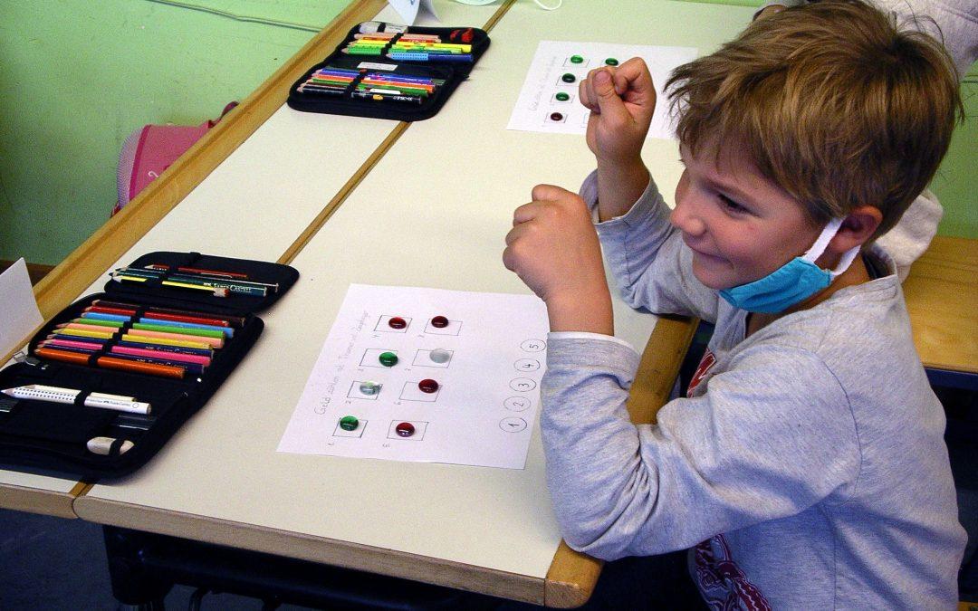 Stifthaltekurs in den 1. Klassen